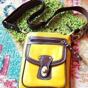 SOPHIA VISCONTI Chartreuse Leather Italy Crossbody
